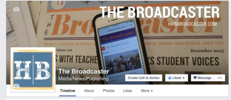 The Broadcaster's Facebook page banner as it appeared on January 20, 2016.  The Broadcaster has just launched it's Facebook page.
