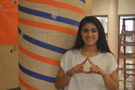 Samina Singh poses on March 11, 2016. Singh missed her classes to prepare for MiniTHON.  (Broadcaster/ Hannah Gundermann)