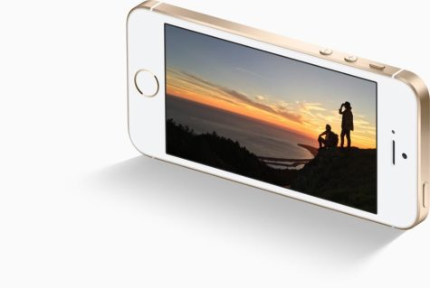 "The iPhone SE includes the new feature of a 12 megapixel iSight camera which holds ""live memories."" Along with other more recent apple iPhones, live photos allow users to have a memory of what happened before and after the picture. (Photo courtesy of Apple Inc.)"
