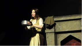 Junior Brenna Beck plays Cinderella in the Spring musical. Beck was nominated for Outstanding Lead Actress in a musical.  (Broadcaster/ Zozan Kucukaydin)