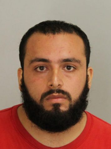 This September 2016 file photo provided by Union County Prosecutor's Office shows Ahmad Khan Rahami, who is in custody as a suspect in the weekend bombings in New York and New Jersey. Rahami worked as an unarmed night guard for two months in 2011 at an AP administrative technology office in Cranbury, N.J. At the time, he was employed by Summit Security, a private contractor. Rahami remained hospitalized Tuesday, Sept. 20, 2016, after a shootout the day before with police in New Jersey. (Union County Prosecutor's Office via AP, File)