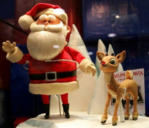 In this Sunday, Nov. 25, 2007 file photo, the original Santa Claus and Rudolph puppets from the TV special