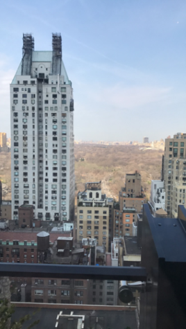 The view of Central Park in Manhattan, New York from the top of the Viceroy Hotel. Madi Mascari, Sofia Suri, and Kaitlyn Kelley visited New York on March 24, 2017 (Broadcaster/ Kaitlyn Kelley)