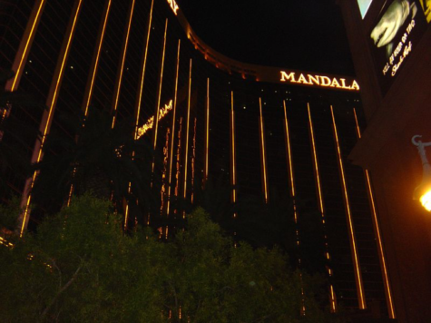 The Route 91 Harvest Music Festival and the Mandalay Bay Casino (pictured) was the scene for the worst shooting in US history with more than 50 dead and 400 injured. The suspect reportedly fired in the crowd from the 32nd floor. (Paul Haydock-Wilson/CC BY-SA 3.0)