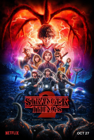 Official poster for Stranger Things season two includes all of the main characters. It was posted on October 22 as a teaser. (via Stranger Things Instagram)