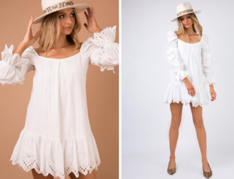 When it comes to hot summer days, dresses are always an easy yet fashionable option. The Layla Mini Dress from Princess Polly is a great option, with the off the shoulder style and subtle embroidered details. This dress is priced at $66.24. (Princess Polly)