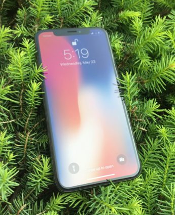 The iPhone X features Apple's first full body display. The phone was released on November 3, 2017, and retails for $999. (The Broadcaster/Alex Elchev)