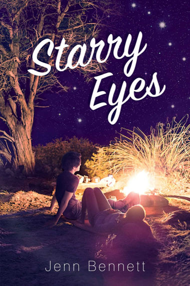 The cover of Starry eyes features the two main characters trying to stay warm in the dark wilderness. This humorous story will be a great companion to any summer trip. (via Amazon)