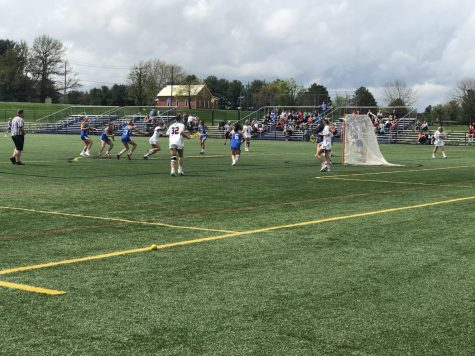 Hershey's Katana Nelson attacks the Exeter goal on April 20, 2019. Nelson scored a hat-trick in the game, but Hershey lost 9-6. (Broadcaster/Maya Yashinsky)