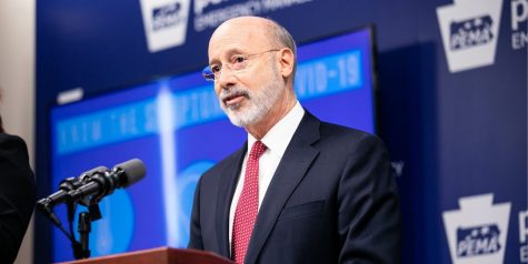 Pennsylvania Governor Tom Wolf addresses the press during an undated visit to the Pennsylvania Emergency Management Agency.  Wolf ordered schools in the Commonwealth remain closed for the remainder of the school year to limit the spread of COVID-19. (Commonwealth of Pennsylvania/CC BY 2.0)
