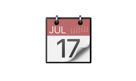 The iconic red and black IOS calendar featuring the date July 17. World emoji day was chosen based on this emoji. (Emojipedia)