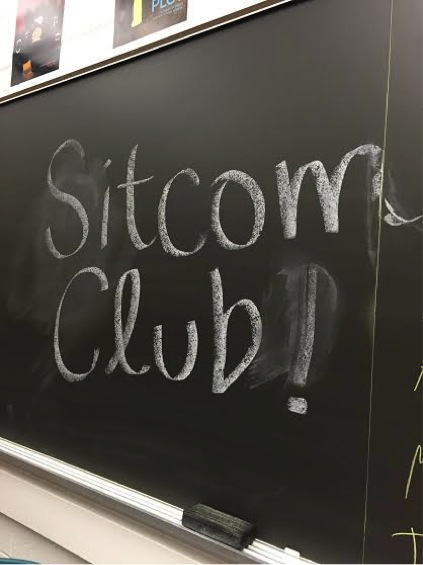 Sitcom Club, new during the 2015-2016 school year, watches and discusses comedy television shows. Sitcom club had their first meeting on Monday, October 5, 2015