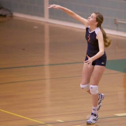 Greta Chavey, a defensive specialist, is a starter on Hershey's varsity volleyball team in a game against Lower Dauphin.