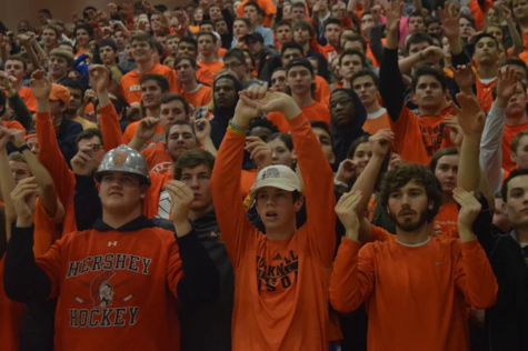 Hershey Students Show Pride at Hershey vs. Lower Dauphin Faculty Game