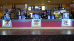 Cocoaplex's concession stand awaits customers.(Photo Courtesy of cocoaplexcinema.net)