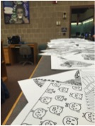 Students Relieve Stress By Coloring