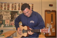 HHS Students Jam On Guitar During Community Day