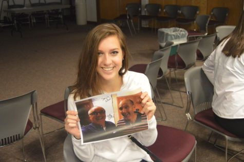 Sophomore Gina Tarsi poses with her first place prize. Tarsi scored 25,008 points in the Kahoot! Trivia Challenge.