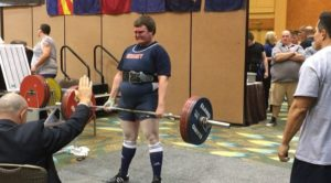 David Still takes his turn with deadlifting during the USAPL High School National Powerlifting Championship on April 3, 2016. Still was able to achieve three new personal records while at the competition. (Submitted by David Still)