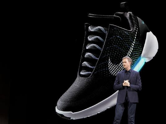 Nike Unveils Self-tying Shoe – The Broadcaster cef7e94a1