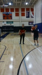 "Sabatino Lannarello gets ready to shoot at Hershey High School Community Day's ""Gym Time Fun"" on April 29th, 2016. Basketball was Iannarello's favorite activity was Gym Time Fun. (Broadcaster/Brandon Hill)"