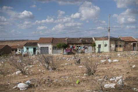 2015 photo, plastic bags and trash lay on the ground in Santa Cruz do Capibaribe, where many cases of Zika where reported in Pernambuco state, Brazil, Wednesday. The Zika virus, first detected about 40 years ago in Uganda, has long seen as a less-painful cousin to dengue and chikunguya, which are spread by the same Aedes mosquito. (AP Photo/Felipe Dana)