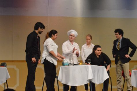 The show cast acts in the production of The Blind Date on April 28, 2016. The show consisted of many hilarious actors and actresses with numerous quirks to each of them.