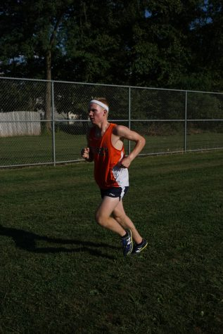Hershey's Andrew Sullivan finished first for the Trojans, but fifth overall in the tri-meet against Lower Dauphin and Red Land on Tuesday, September 13, 2016.  Lower Dauphin earned the top two spots and three in the top four to defeat the Trojans. (Broadcaster/Robert Sterner)
