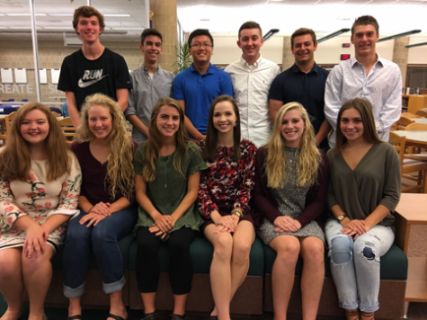 The 2016-2017 Hershey High School Homecoming Court is: Back Row(left-right): Michael Miller, Thomas Perry, Jason Guo, Dylan Gomer, Max Dadswell, and David Lilla Front Row(left-right): Maggie Lane, Emily Nolan, Taylor Mortensen, Marisa Balanda, Kaley Buchanan, and Lindsay Abel (submitted/Barbara Clouser)