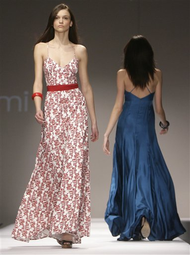 Models walk the runway during the Ford Models Supermodel of the World show in New York, Wednesday, Jan. 17, 2007. The show, in which models from different countries competed for modeling contracts, featured clothes from emerging Australian designers. (AP Photo/Seth Wenig)