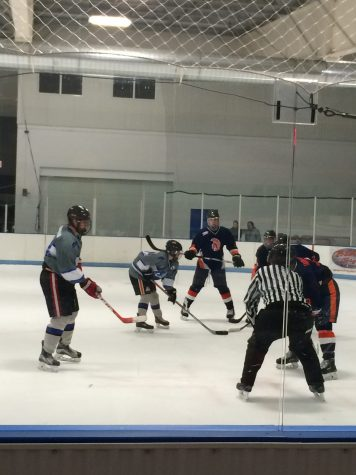 The Trojans set up one of their first plays of the second period. Hershey beat Cedar Crest 7-3 at Klick Lewis Arena on Wednesday, November 10, 2016. (Broadcaster/ Kaitlyn Kelley)