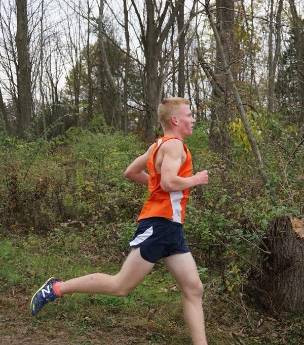 October, 29, 2016, Sullivan runs at the 2016 District meet. Sullivan came in 11th at the meet with a time of 16:12. (Broadcaster/Robert Sterner)