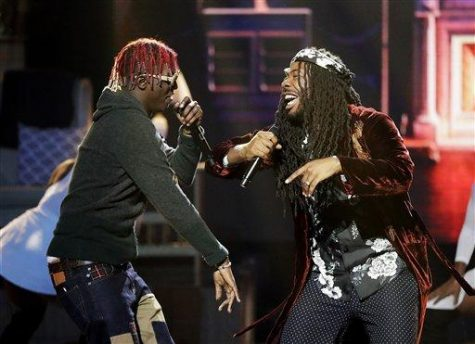 Big Baby D.R.A.M., right, and Lil Yachty perform during the BET Hip Hop Awards in Atlanta, Saturday, September 17, 2016. (AP Photo/David Goldman)