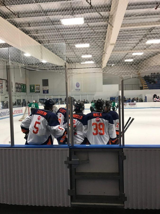 Hershey Boys Ice Hockey Skates Past Central Dauphin on Senior Night