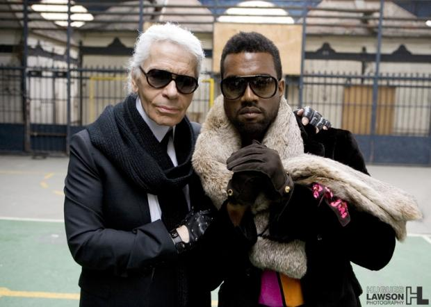 (Credit to Flickr, Trendsetter, Mark Holiday) Karl Lagerfeld (left) seen with rap superstar Kanye West (right). Lagerfeld in fashion, similar to Kanye in rap, is known for his innovative touch.