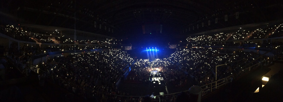 A panoramic view of Giant Center during a Lady Antebellum concert. The show was part of the Wheels Up 2015 Tour, which featured Hunter Hayes and Sam Hunt. (Broadcaster/Emerson Freer)