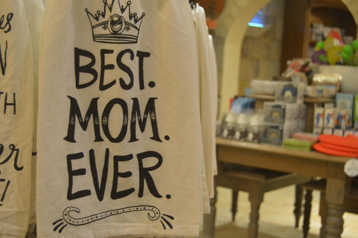 The Best Mom Ever dish towel, $10, is a useful everyday gift your mom will be sure to display in the kitchen.