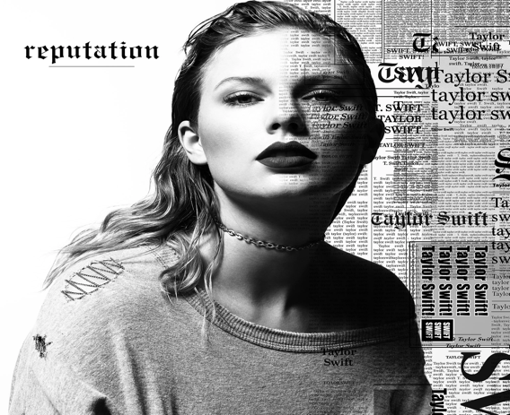 Taylor Swift's new album, reputation, features a simple black and white cover.  The album art was unveiled on August 23, 2017.  (Taylor Swift)