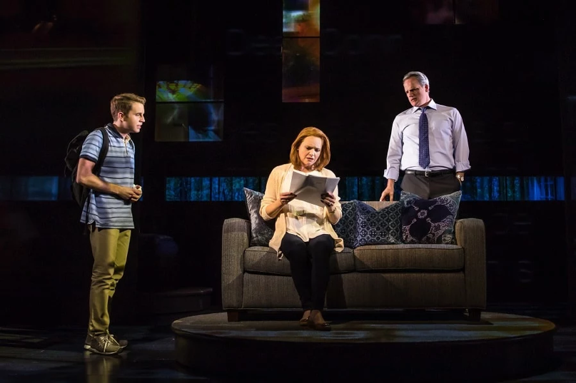Ben Platt (far left) as Evan Hansen during a performance of the show. The musical opened on Broadway in December of 2016 and is still being performed by the original cast. (Photo courtesy of Dear Evan Hansen)