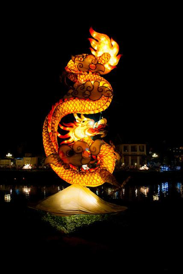 The dragon lantern pictured above is among one of the more extravagant lanterns. The lanterns are original with different shapes and colors.(jev55/CC BY 2.0)