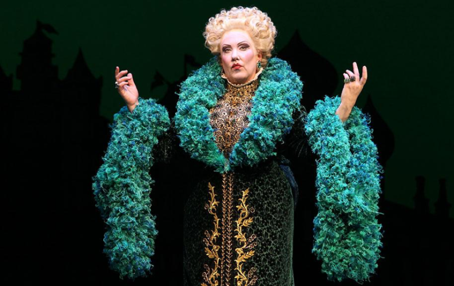 The character of Madame Morrible being played by actress Kathy Fitzgerald. Madame Morrible is one of the major antagonists in the show. (Wicked)