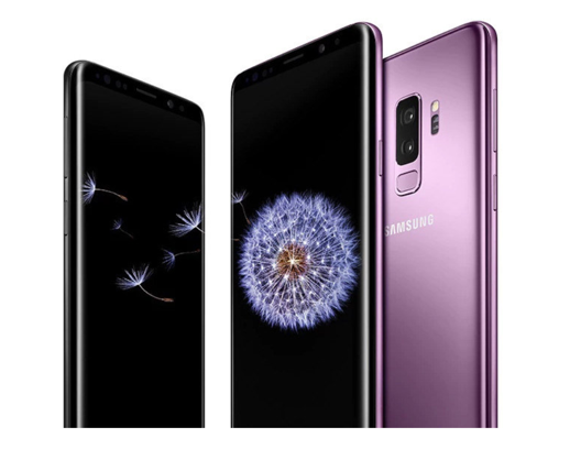 The Galaxy S9 and S9+, shown above, were revealed at the Mobile World Congress in Barcelona, Spain. The phones will retail at $720 and $840, respectively. (Samsung)