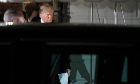 President Donald Trump walks to his limousine to depart the White House en route to the U.S. Capitol to give the State of the Union Address, Tuesday, Jan. 30, 2018, in Washington. (AP Photo/Alex Brandon)
