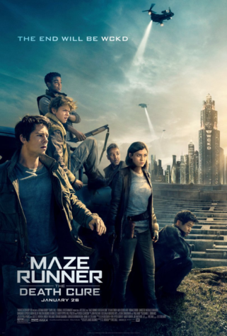 The Death Cure movie poster includes several of the main characters. The movie produced 184 million dollars in the Box office. (Twitter)