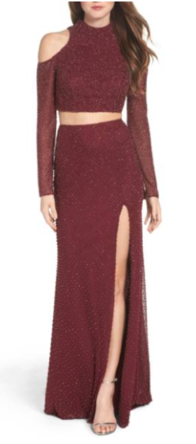 Though+the+red+is+a+more+wintery+color%2C+the+color+and+jewels+are+super+on+trend+for+this+year.++The+two+piece+Nordstrom+makes+this+dress+different+than+most+prom+styles.