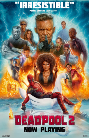The poster for Deadpool 2 shows how action-packed the movie is. The film received an 82% on Rotten Tomatoes, a similar rating to its predecessor. (20th Century Fox)