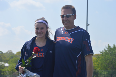 HHS Track honors seniors on Senior Night