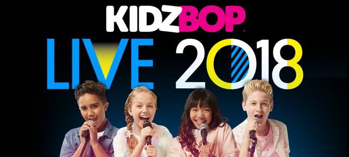 Left to right: Isaiah, Indigo, Julianna, and Copper on official KIDZ BOP Live concert advertisement. All of the members, except Indigo who is a new addition, have been in prior concerts. ( KIDZ BOP)