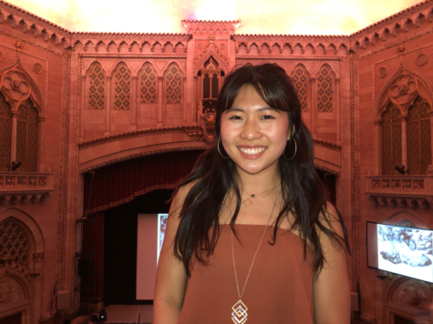 HHS Senior Jenny Kim inside the Hershey Theatre on May 4th, 2017. Kim is planning to attend the University of Virginia this fall. (Caroline Corcoran/HHS Broadcaster)