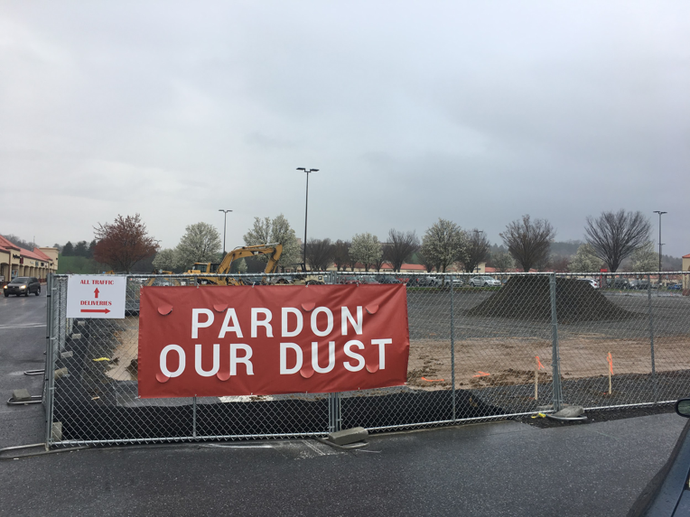 Construction is currently underway to build a new Starbucks at the Hershey Tanger Outlets. It is expected to open for business mid-June. (Broadcaster/Leah Koppenhaver)